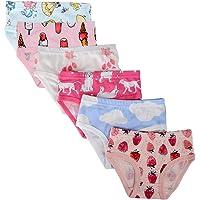 Kidear Bragas de algodón suave para bebé - Bragas surtidas para niñas (paquete de 6)