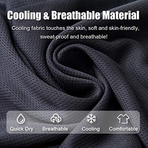 [6 Pack] Unisex Sun UV Protection Face Bandana, Reusable Half Mask Scarf Headwear Neck Gaiter Balaclava for Men Women