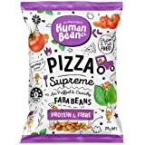 Human Bean - Faba Beans (Fava Beans) Vegan Friendly, Nut Free, Dairy Free & Gluten free Snacks - 12 x 20g (Pizza supreme…