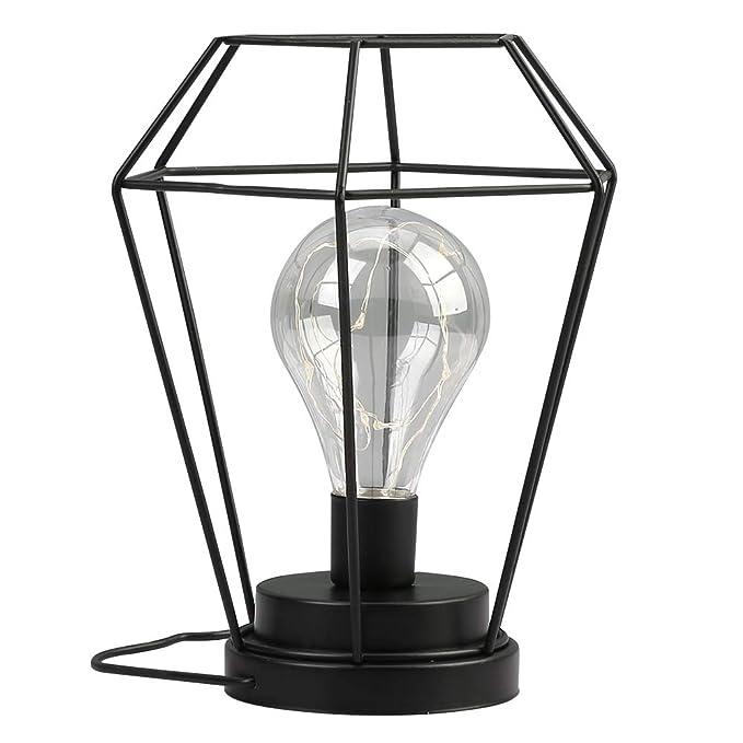 Diamond Shape Metal Table Lamp 8 25 High Battery Powered Night