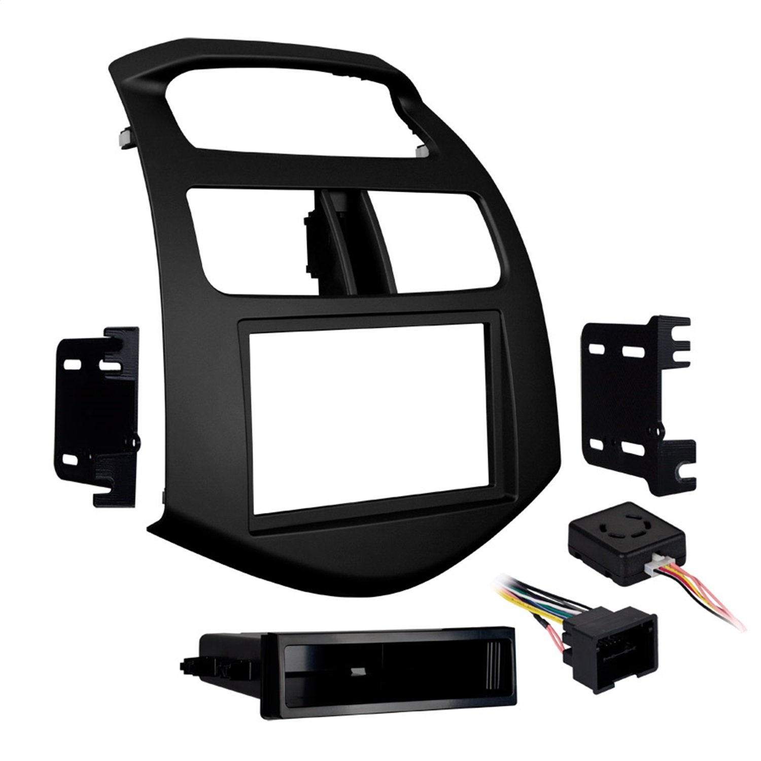 Metra 99-3309B-LC Single/Double DIN Stereo Installation Dash Kit for 2013-Up Chevy Spark (Matte Black) by Metra