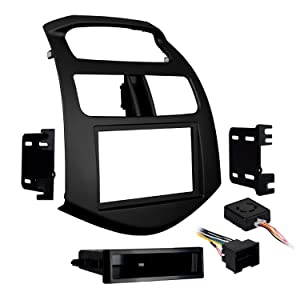 Metra 99-3309B-LC Single/Double DIN Stereo Installation Dash Kit for 2013-Up Chevy Spark (Matte Black)