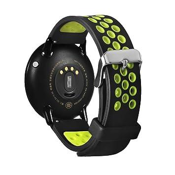 Correa de repuesto para reloj inteligente Xiaomi Huami Amazfit A1602, Y56, 21 cm, liviana, de silicona, verde: Amazon.es: Deportes y aire libre
