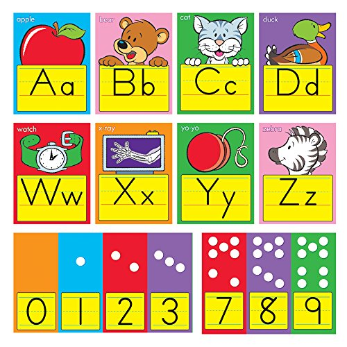 TREND enterprises, Inc. ABC Fun Alphabet Zaner-Bloser Manuscript Bulletin Bd. (Number Words Chart)