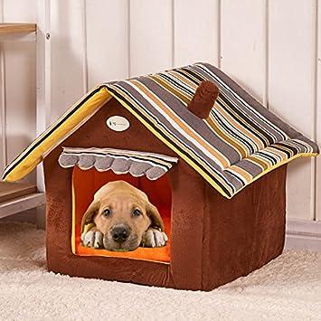 Semoss Rayas Diseño Casa Perro Exterior Cama Perro Grande Impermeable Jaula Perro Plegable Interior Perrera Perros para Perros,Gatos,Conejos y Animales ...