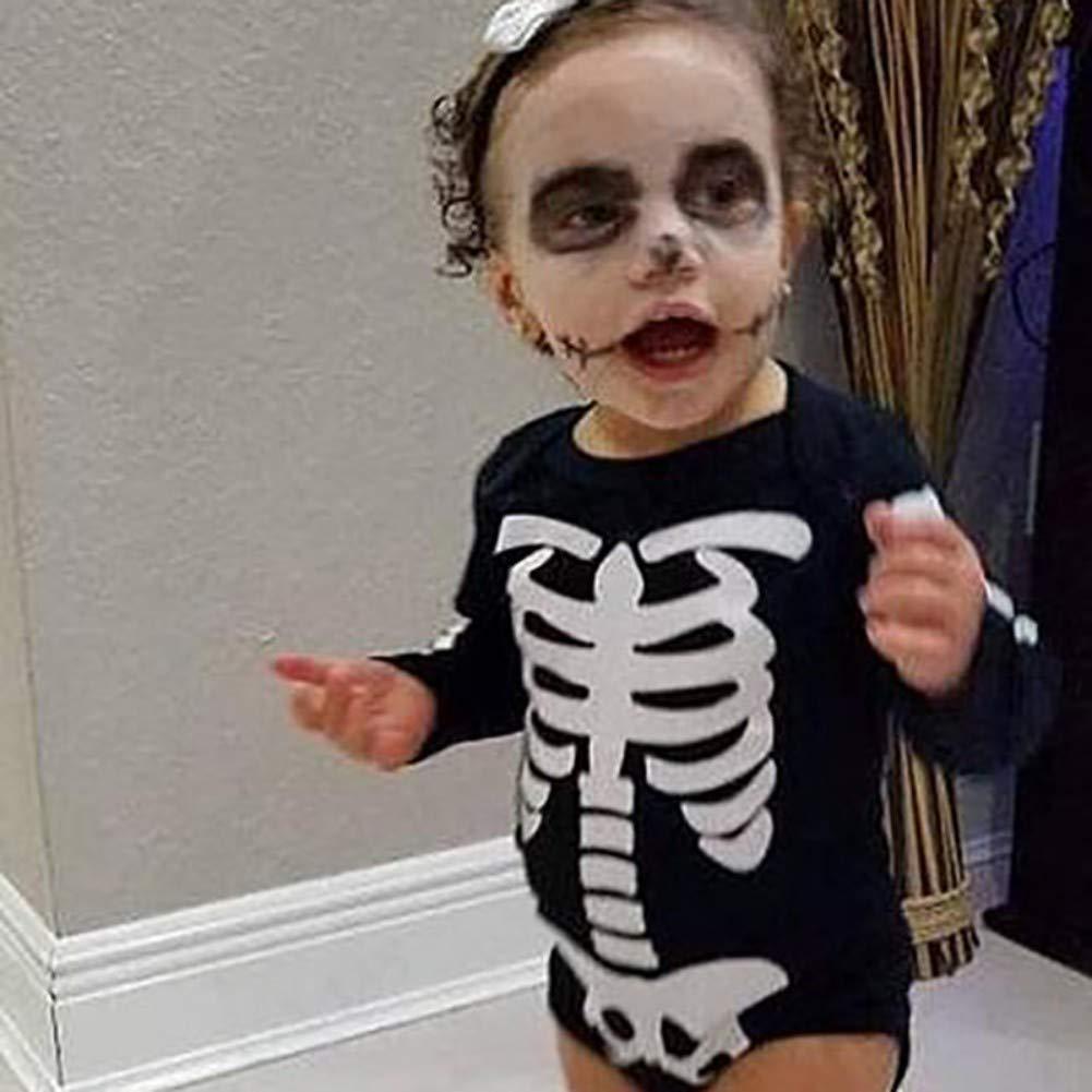 Miyanuby B/éb/é Filles Halloween Costume /À Manches Longues Halloween Barboteuse Tutu Jupe avec Jambi/ère Parti Costume V/êtements Ensemble