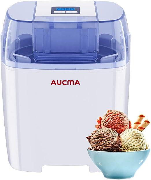 Máquina de helado Aucma, máquina eléctrica para hacer helado de ...