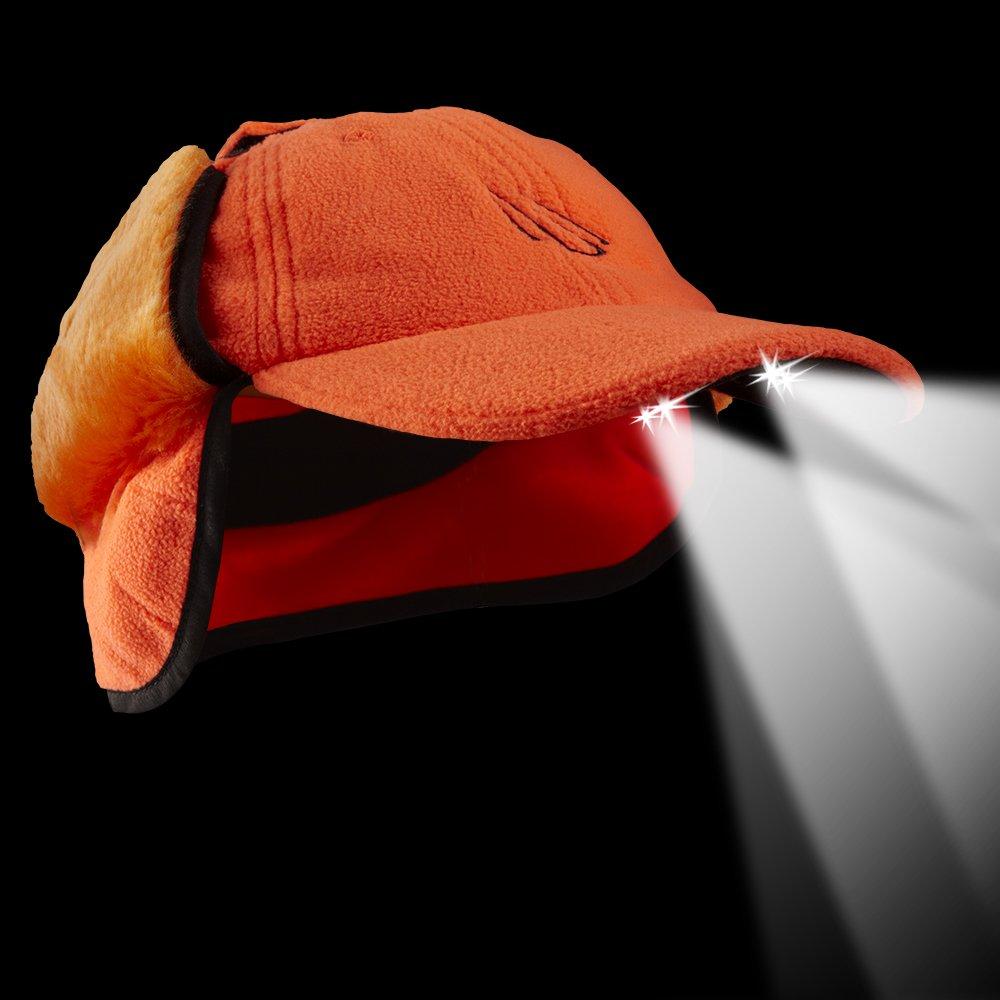 fdbcee99d7d POWERCAP LED Winter Fleece Hat 25  75 Ultra-Bright Hands Free Lighted  Battery Powered Headlamp ...