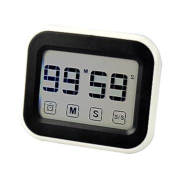 Stree Digital temporizador de cocina cuenta atrás pantalla táctil reloj de cocina con alarma y cronómetro de cocina Pan Candy para barbacoa: Amazon.es: ...