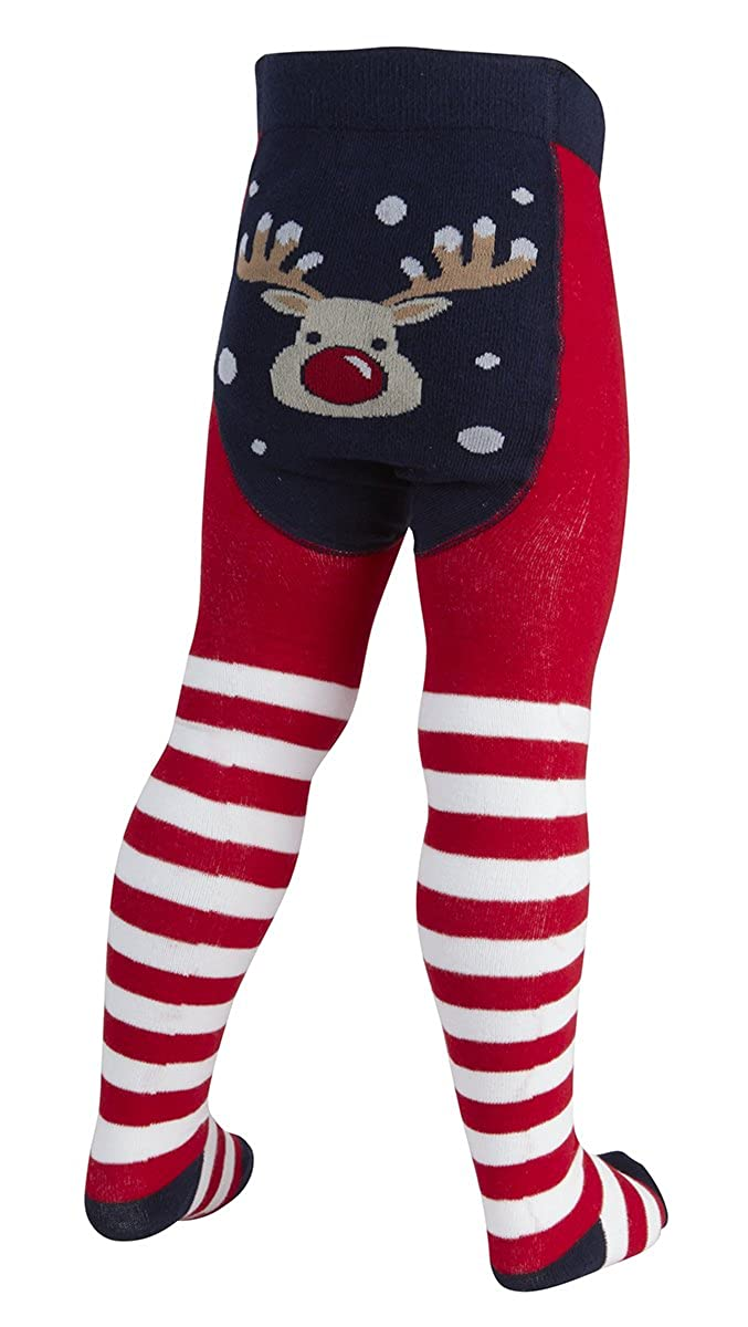 TICK TOCK New Baby Novelty Girls Christmas Tights Xmas Cotton Snowman Reindeer