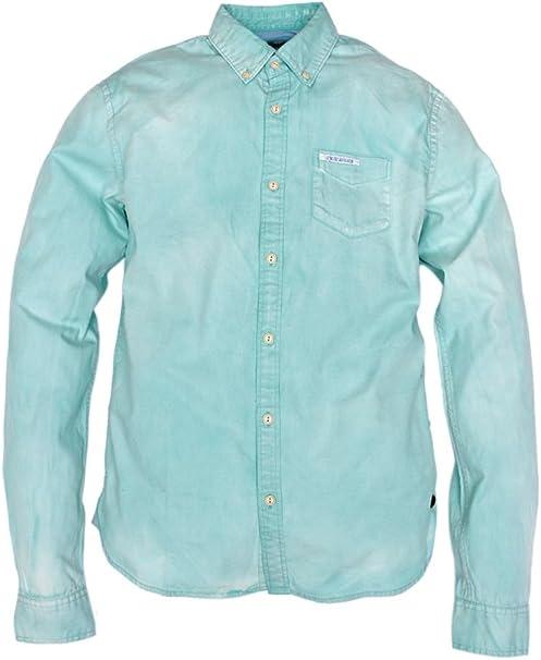 Scotch & Soda Camisa Pique para Hombre, Color: Verde Claro, Talla: S: Amazon.es: Ropa y accesorios