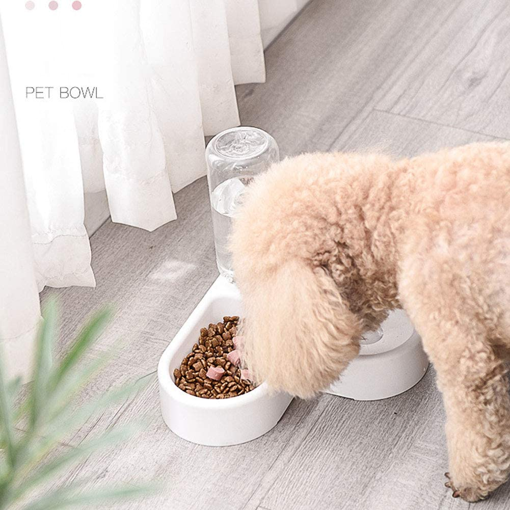 Alician Automatic Stainless Steel Pet Feeder Water Dispenser Double Bowl for Small Medium Dogs Cats