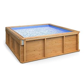 Luxus Holz Kinder Mini Pool Planschbecken Familien Schwimmbecken ...