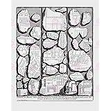 MAP PIRANESI 1756 ROME CITY FRAGMENTS ANCIENT LARGE REPLICA POSTER PRINT PAM1176