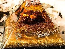 Shungite Orgonite Pyramid / Orgone Generator / EMF Protection Energy Healing Tool