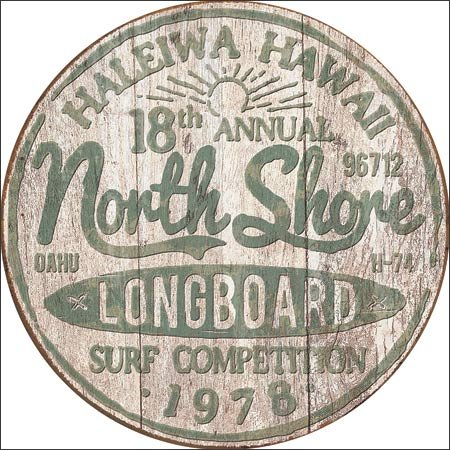 North Shore Surf Tin Sign 12 x 12in by TSFD