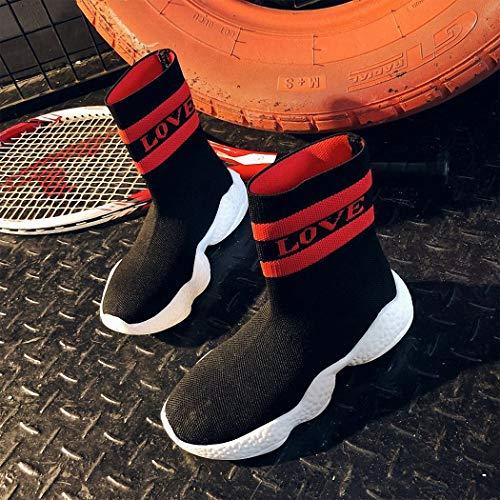 de Zapatos Hip negro Calcetines Casuales señoras Respirables Calzados elásticos Deportivos los Las Hop de Hop Hip Lucdespo de Punto Calcetines de IOxaFa