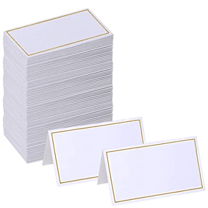 amazon com supla 100 pcs wedding table name place cards blank