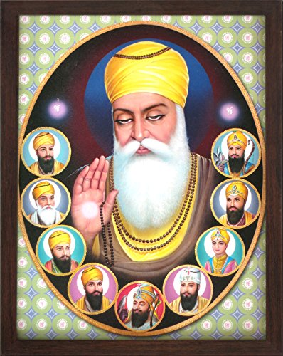 Handicraft Store Gurunanak Dev Ji, A Picture Poster Painting with Unbreakable Acrylic Glass framing for Home Decor and Auspicious Purpose.