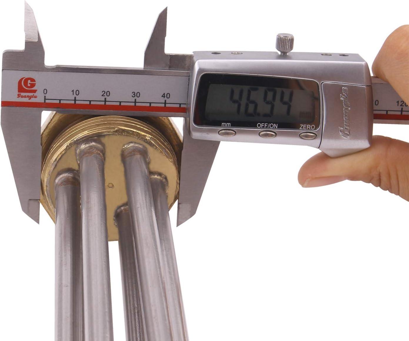 220-240V 3000W /Él/ément chauffant pour chauffe-eau Acier Inoxydable AIICOO R/ésistance Chauffante 1.5 inch Flange Capuchon et Bague D/étanch/éit/é sont pr/évus Thermoplongeur