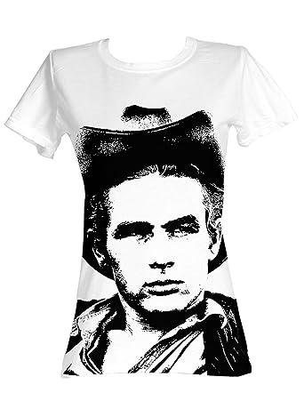 James Dean - Silhouette Damen T-Shirt in Weiß, X-Large, White ... dac208fc79