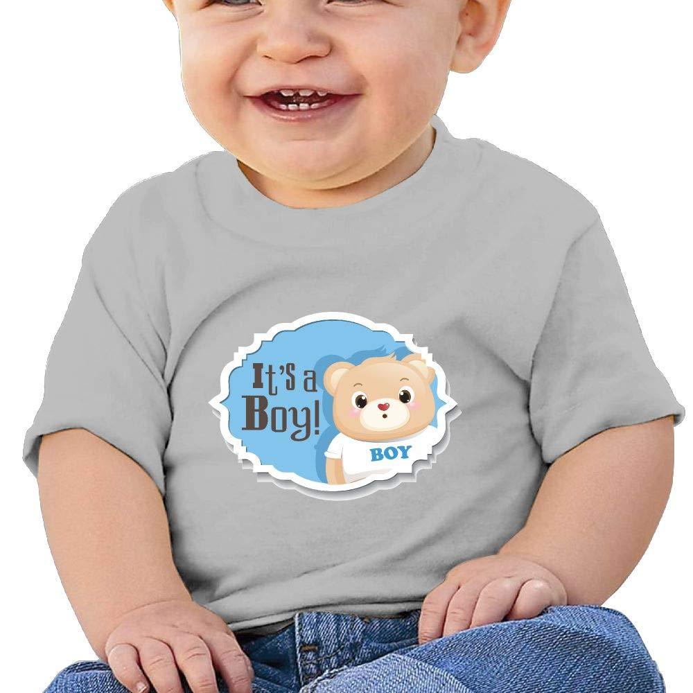 AiguanCute Bear Toddler//Infant Short Sleeve Cotton T Shirts Gray