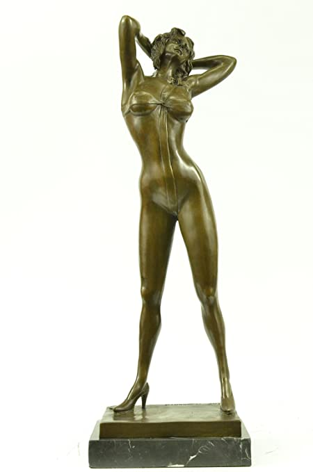 Office Home Decor Gift Collectible Bronze Sculpture Statue Playboy Bunny Centerfolds Sexy Girl 21x75 18 LBS Real Amazoncouk Kitchen