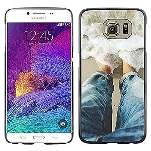 FECELL CITY // Duro Aluminio Pegatina PC Caso decorativo Funda Carcasa de Protección para Samsung Galaxy S6 SM-G920 // Sun Water Surf Summer Waves