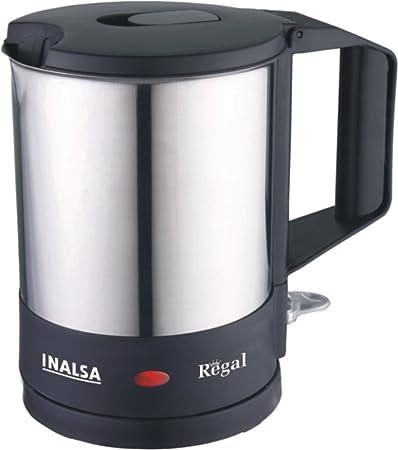 Inalsa Regal 1100-Watt 1-Litre Electric Kettle Stainless steel,Stainless steel/Black