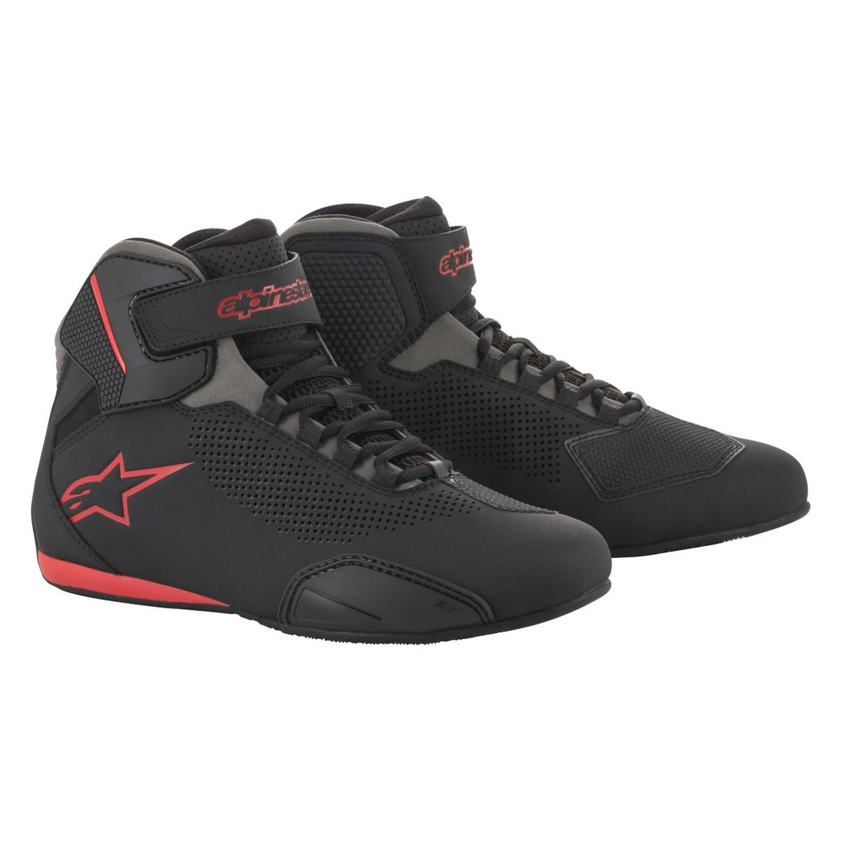 Alpinestars Men's 2515618131135 Shoe (Black/Grey/Red, Size 13.5)