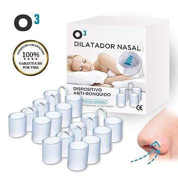 O³ Dilatador Nasal - 8 Antironquidos Nasal De Silicona Blanda - 100% sin BPA -