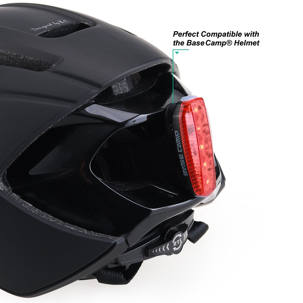 BASE CAMP Cycling Bike Helmet with Removable Shield Visor Adjustable Adult M Size 21.75-23.25 Inches