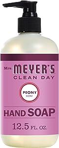 Mrs. Meyer's Liquid Hand soap, Peony, 12.5 Fl Oz (Pack of 1)