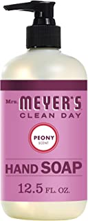 product image for Mrs. Meyer's Clean Day Liquid Hand Soap, Cruelty Free and Biodegradable Formula, Peony Scent, 12.5 oz