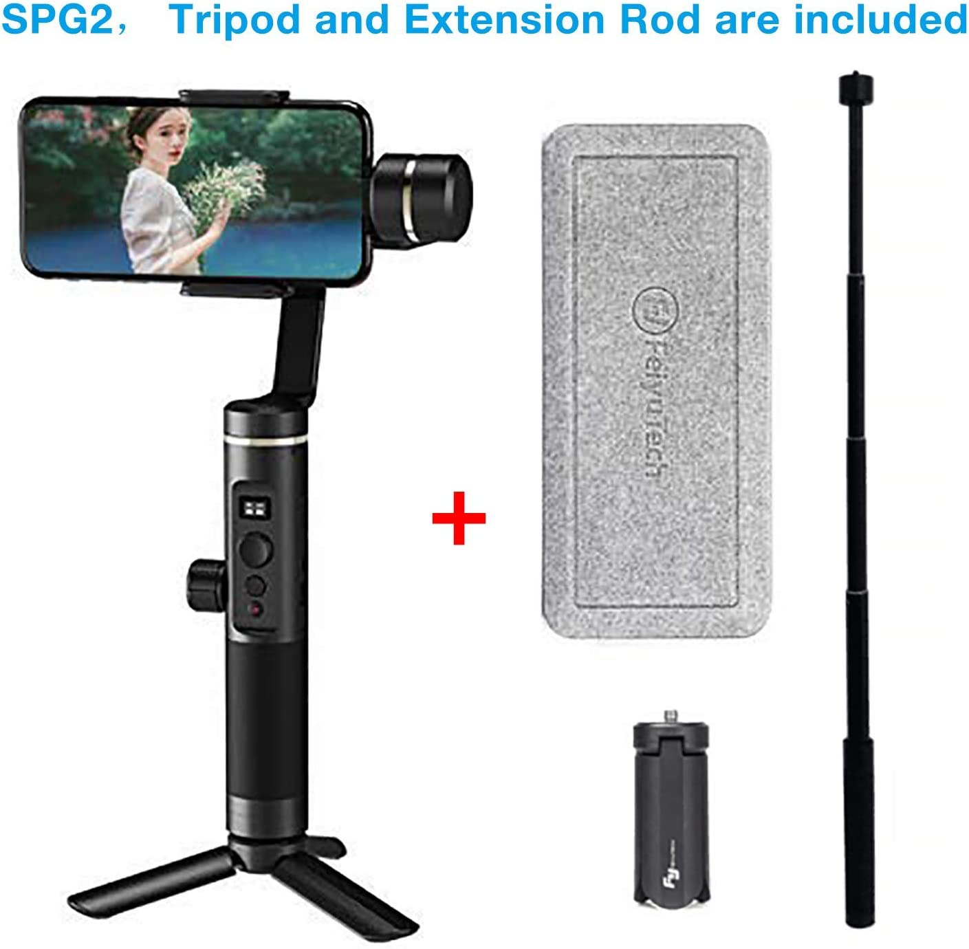 Feiyu spg2 Gimbal for Smartphone/iPhone,Including Tripod Stand and Extension Rod armbrand: Amazon.es: Electrónica
