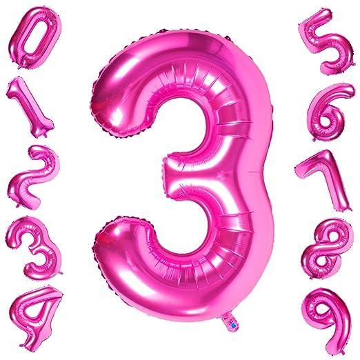 42 pulgadas grandes globos púrpuras Números 3, Jumbo Foil ...