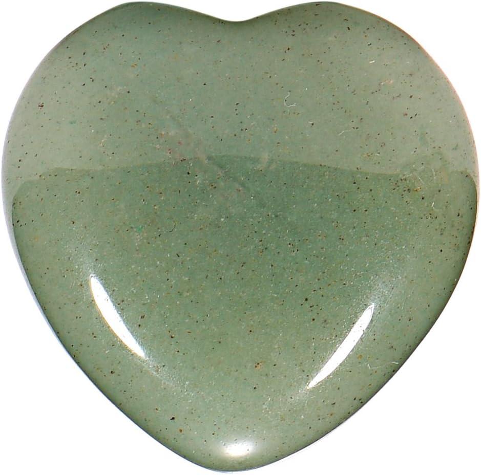 Morella piedras preciosas gema Aventurina forma de corazón Ángel de la Guarda protector de 3 cm en una bolsa de terciopelo