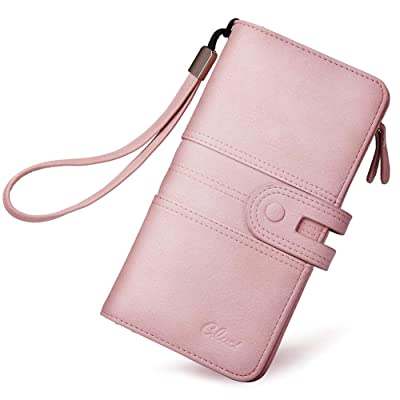 UK Long Women Leather Purse Clutch Button Wallet Lady Coin Card Holder Phone Bag