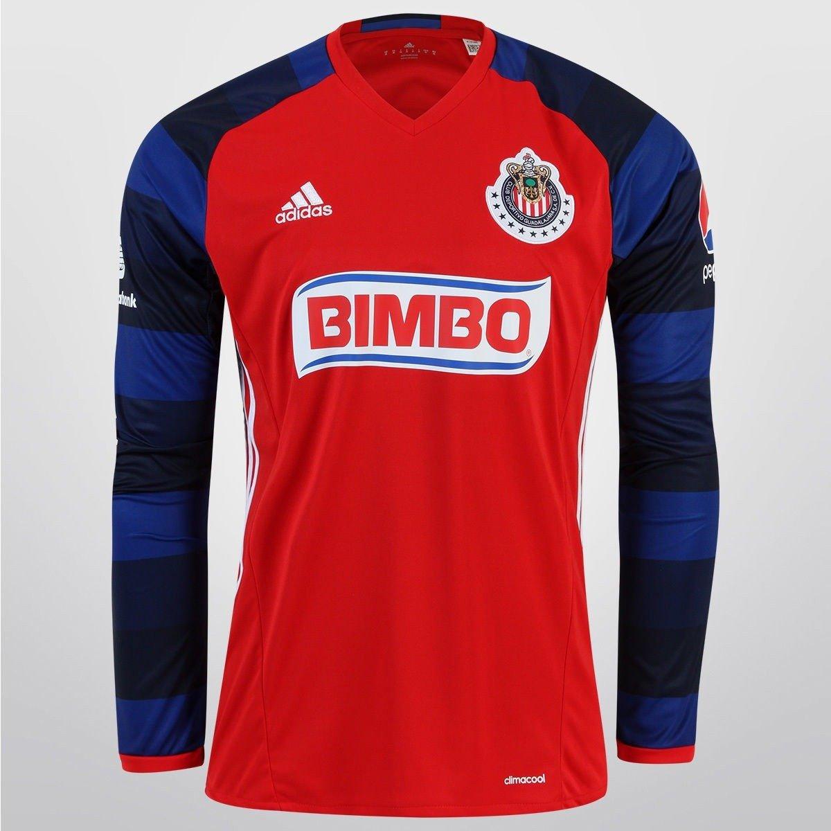adidas Jersey para Hombre Color Rojo Chivas Talla L AC2740 770687bcd1c3f
