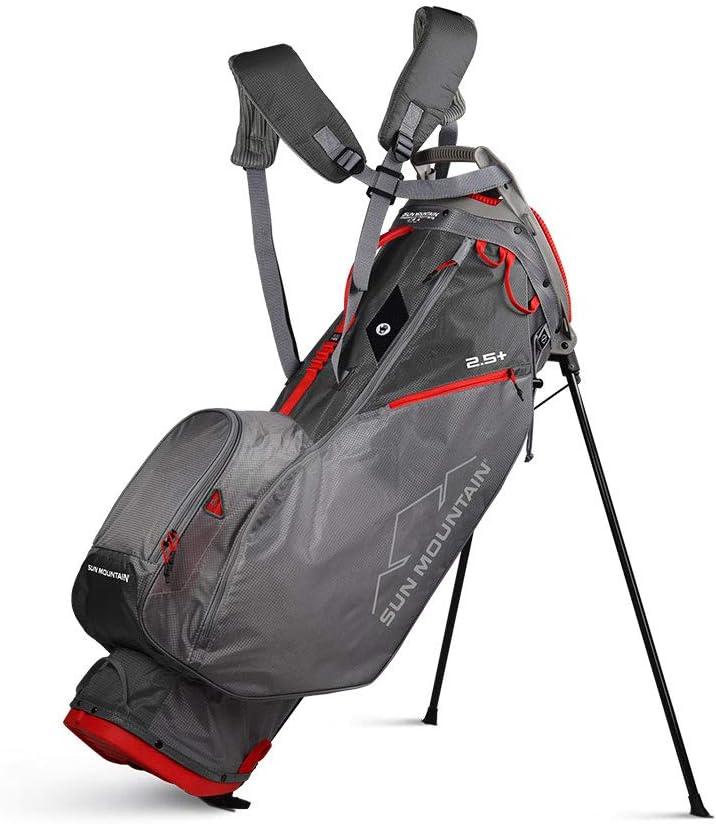 Sun Mountain New 2020 2.5+ Stand Bag (Gray/Gunmetal/Red)
