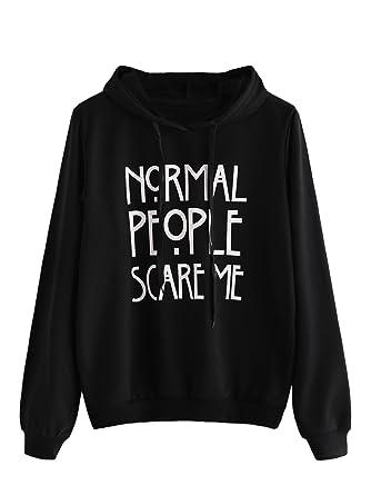 2c1ce12c3a0 SweatyRocks Sweatshirt Girls Pullover Fleece Drop Shoulder Striped Hoodie  For Girl Black S