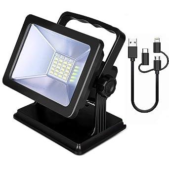 Fighrh Proyector de seguridad a prueba de agua IP65 Luces de ...