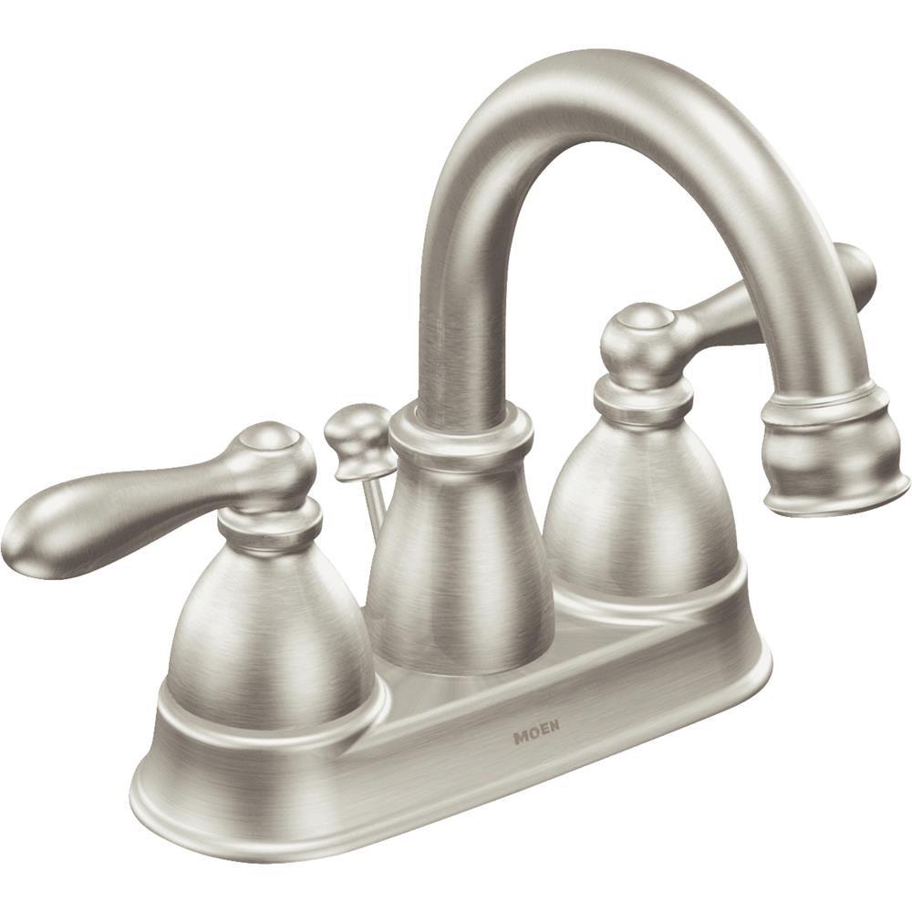 chic Moen WS84667SRN Caldwell Two-Handle Bathroom Faucet High Arc ...
