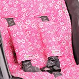 Minene Universal Pushchair Stroller Pram Buggy Liner Footmuff Cosytoes Car Seat with safety straps (Pink& White Flowers) Bild 2