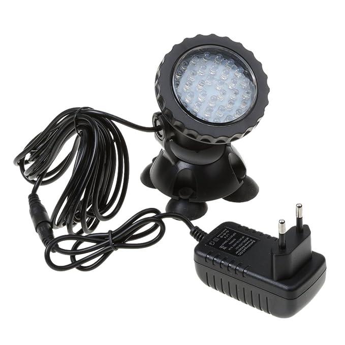 3 opinioni per Baoblaze Lampada 36 -LED Luce Sotto Acqua Faretto Illuminazione per Pesci