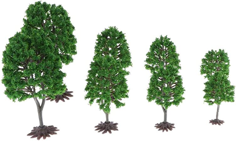 Hellery Miniatura Árbol de Bosque de Plástico de Modelo Árboles Decorar para Fiesta en Parque de Jardín - 8 / Lote: Amazon.es: Juguetes y juegos