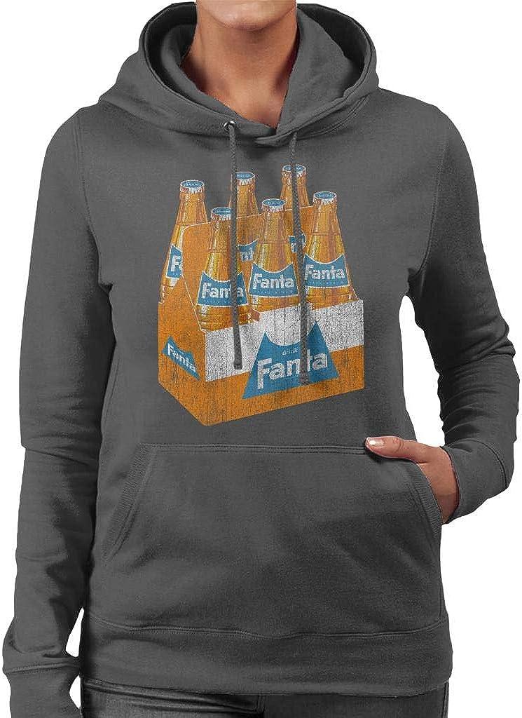 Amazon.com: Fanta Retro 1960s Bottle Crate Women's Hooded Sweatshirt:  Clothing