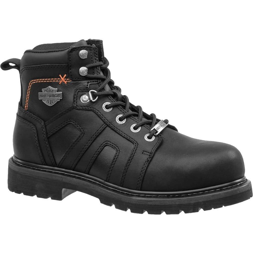 Harley-Davidson - d93176 - 8 M - 5H de hombre botas de trabajo, puntera de acero tipo piel plena flor, superior material, color negro, tamaño 8: Amazon.es: ...