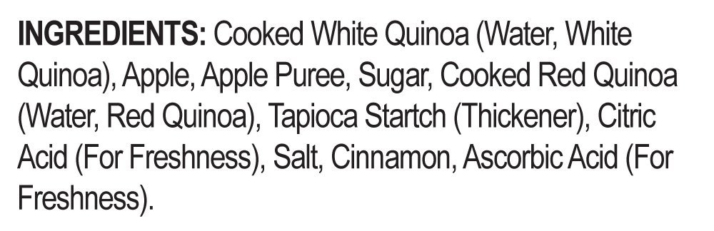 Quinoa Ready To Eat Meal By World Gourmet | Complete Plant-Based Protein Perfect for Breakfast, Lunch or Dinner Packed With A Delicious Apple Cinnamon Sauce (Pack of 6) by World Gourmet (Image #5)