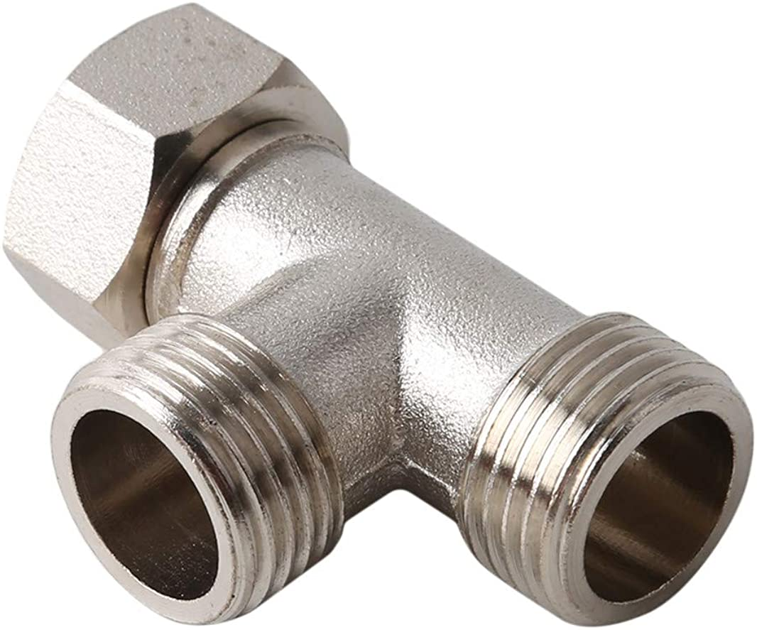 3 Way Shower Arm Diverter Adapter Toilet Angle Valve Sprayer Shower Fittings